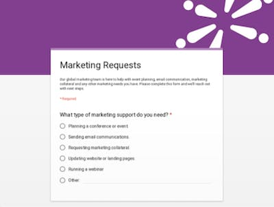 Click Here For Marketing Request Form