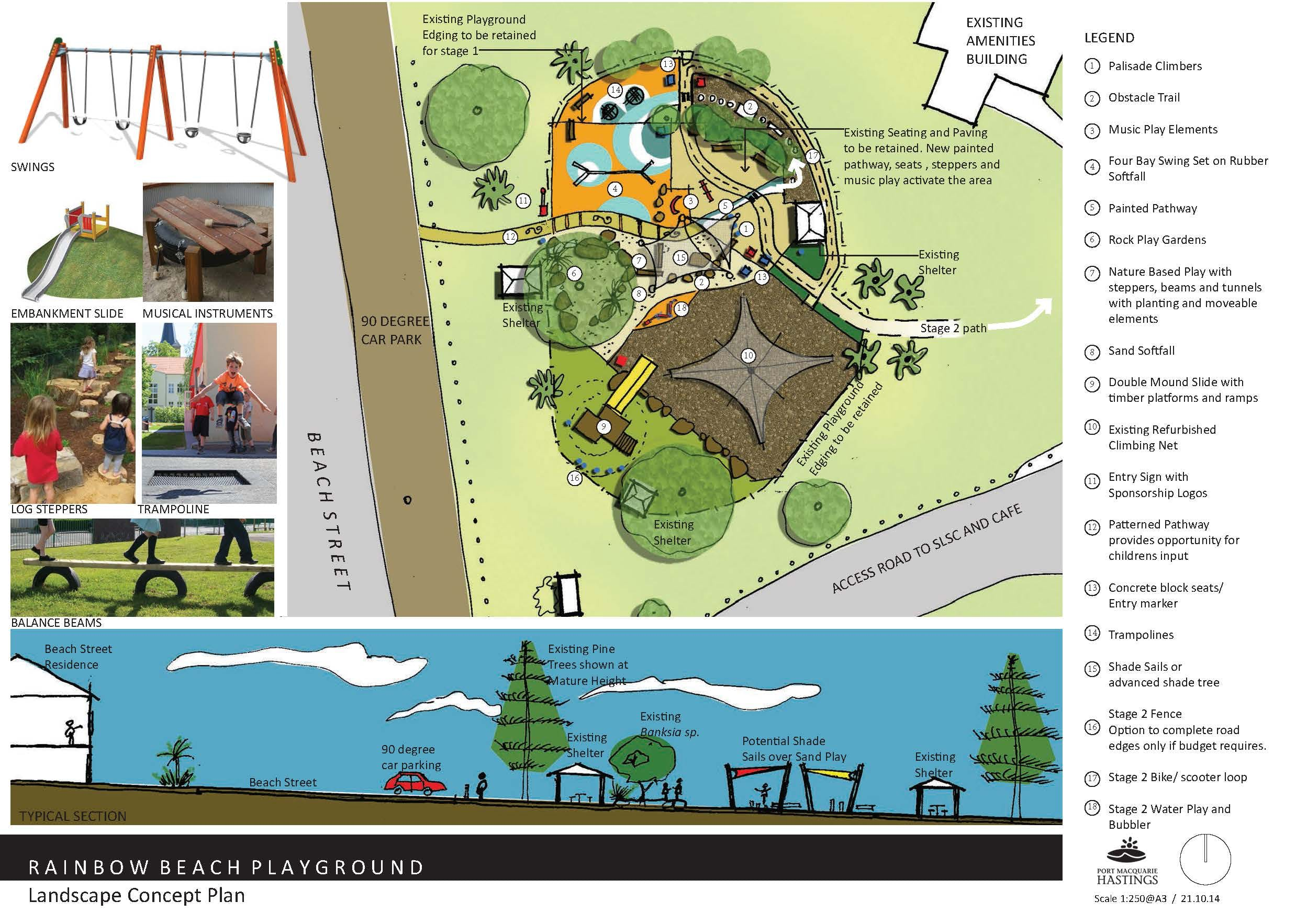 Rainbow Beach Playground Plan