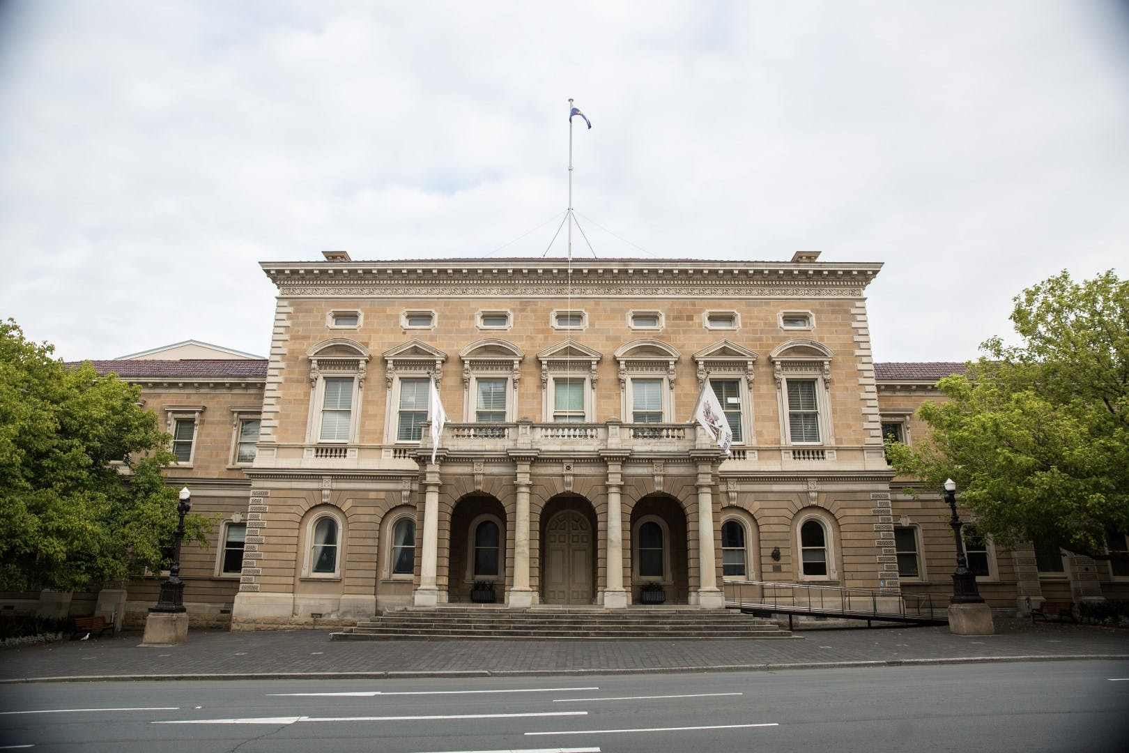Hobart Town Hall - Macquarie St view