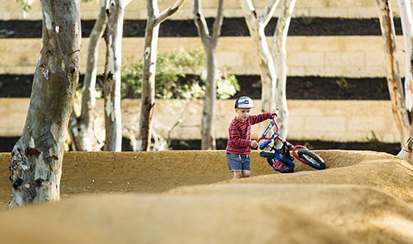 Young boy on BMX Track
