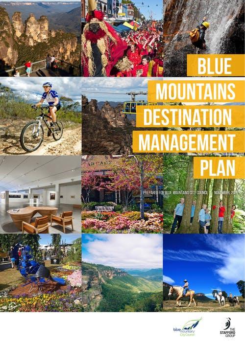Blue Mountains Destination Management Plan Cover