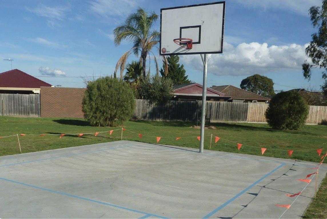Basketball half court (Option 1) - Forrest Street