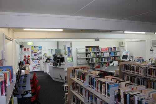 Helensburgh library counter