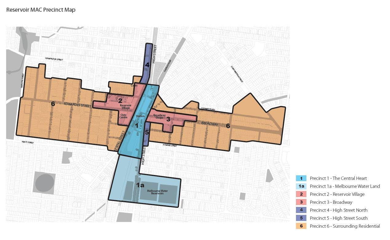 Reservoir Precinct Map