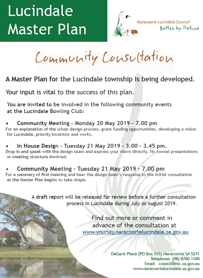Lucindale Master Plan Poster
