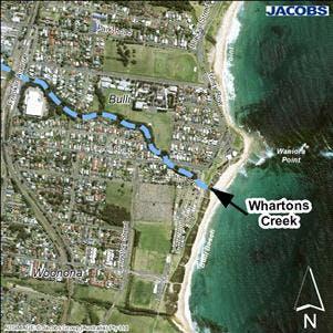 Whartons Creek Entrance Location