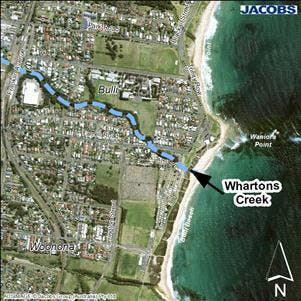 Whartons Creek Entrance Location