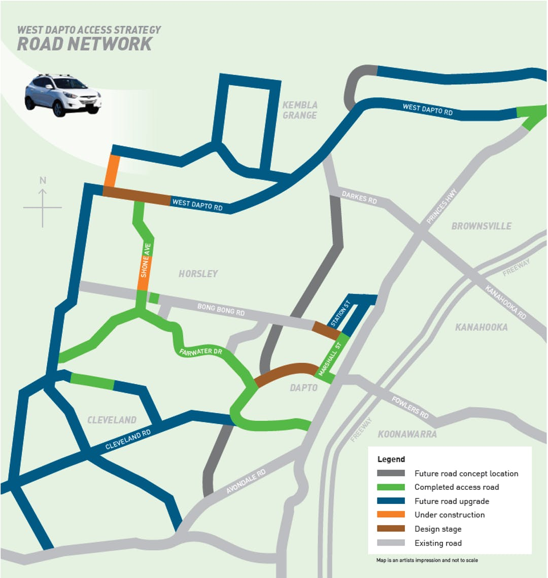 West dapto access strategy mud map