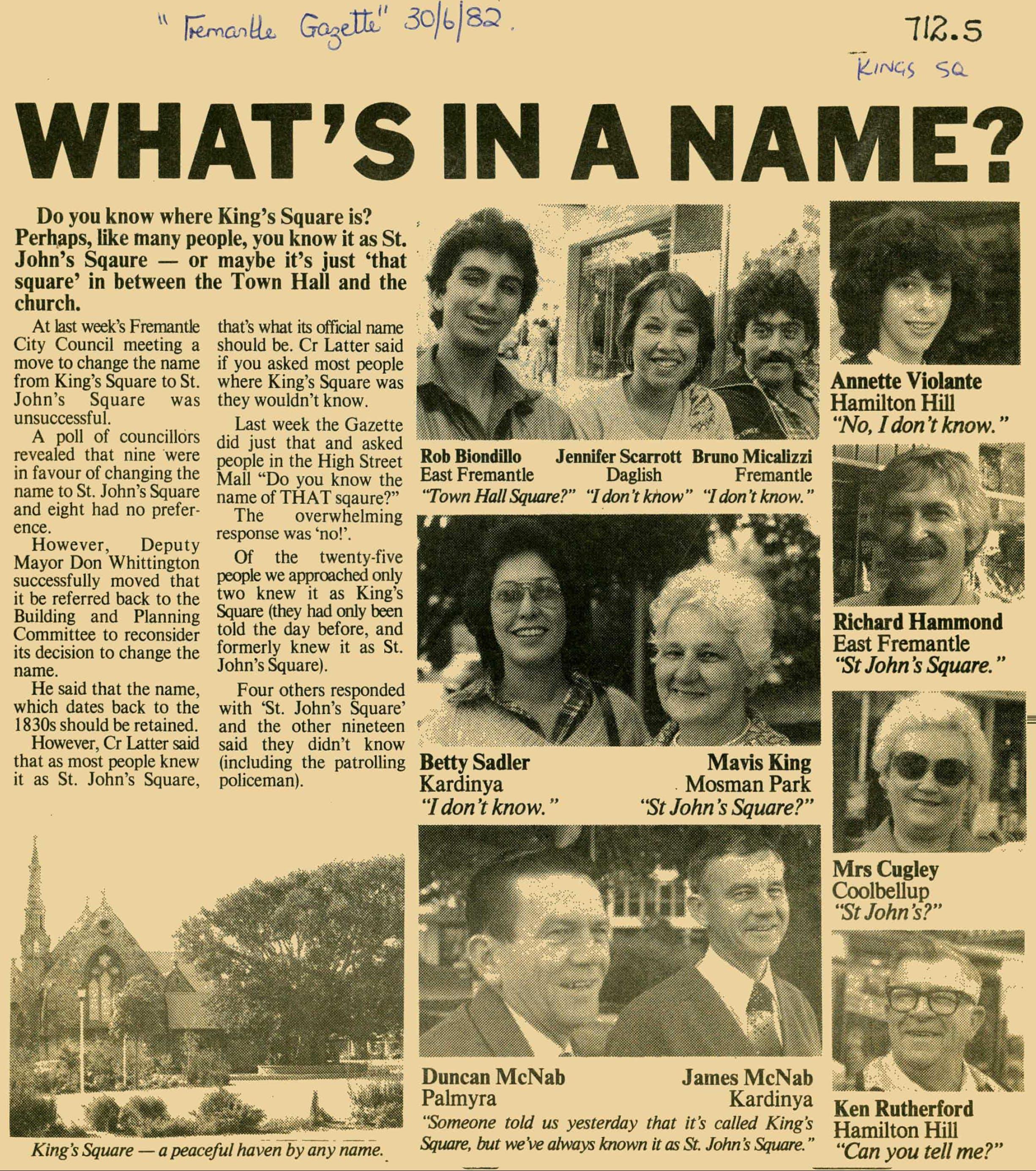 Fremantle Gazette 1982