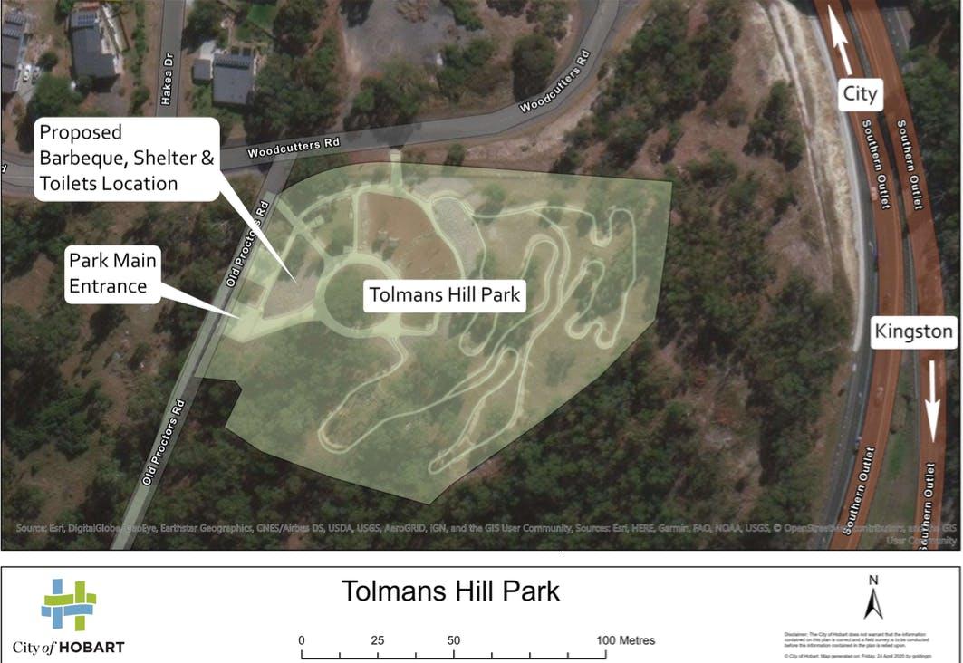 Tolmans Hill Park Location Map.png