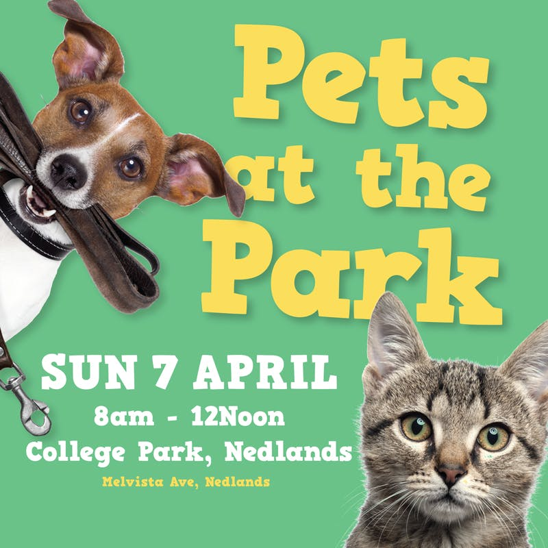 Pets at the Park - Sun 7 April 8am-12pm