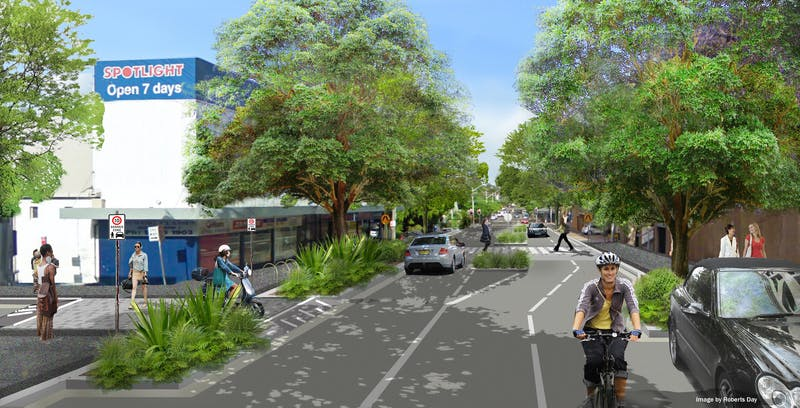 An artist impression of what Ebley Street could look like.