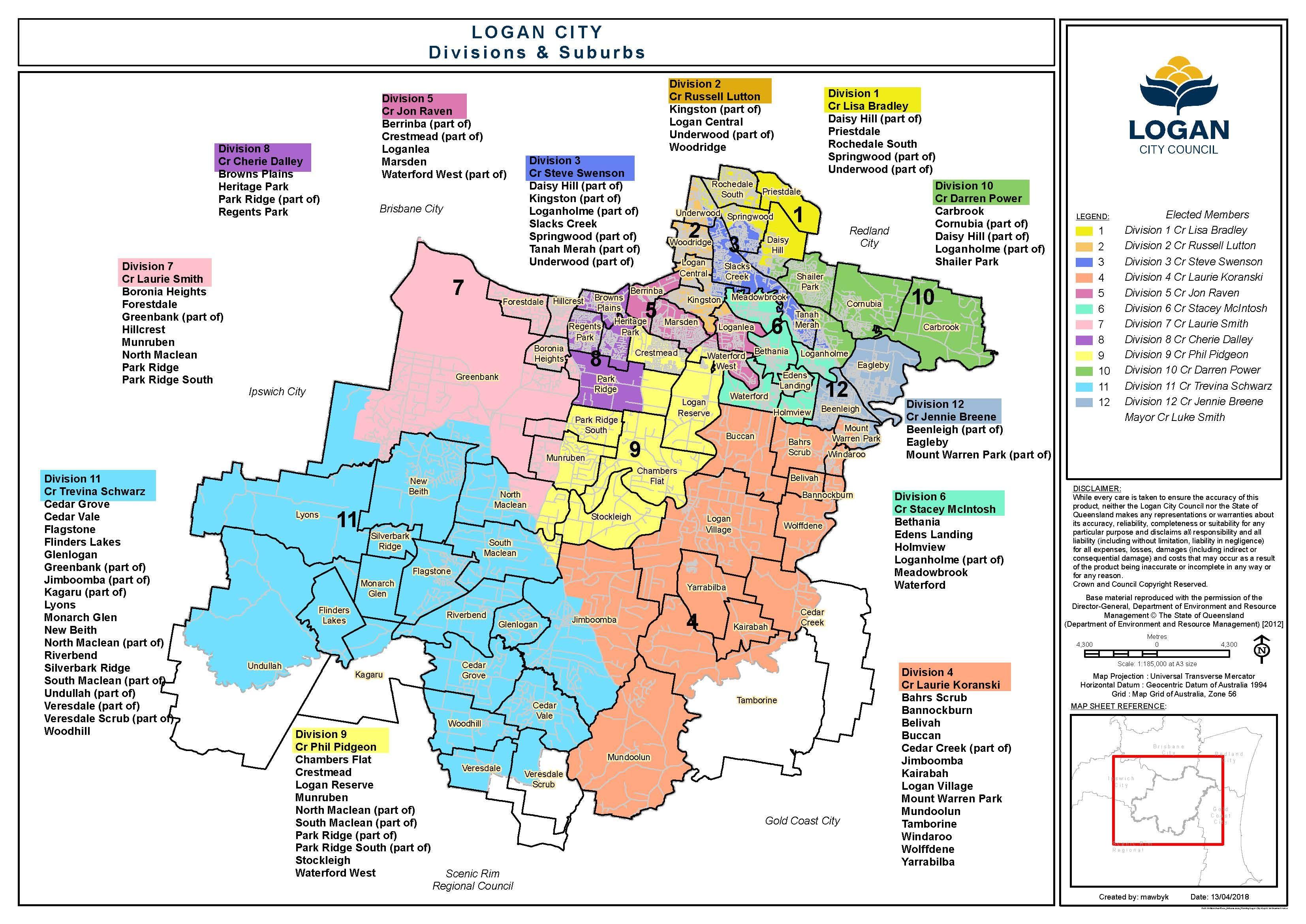 Logan Division Map 2018