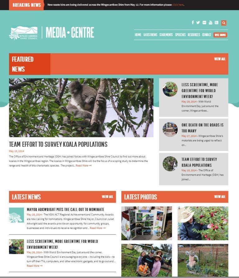Online media centre