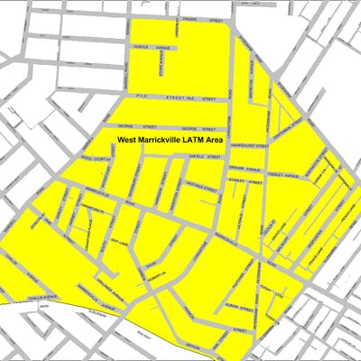 Map West Marrickville Area 13 Latm