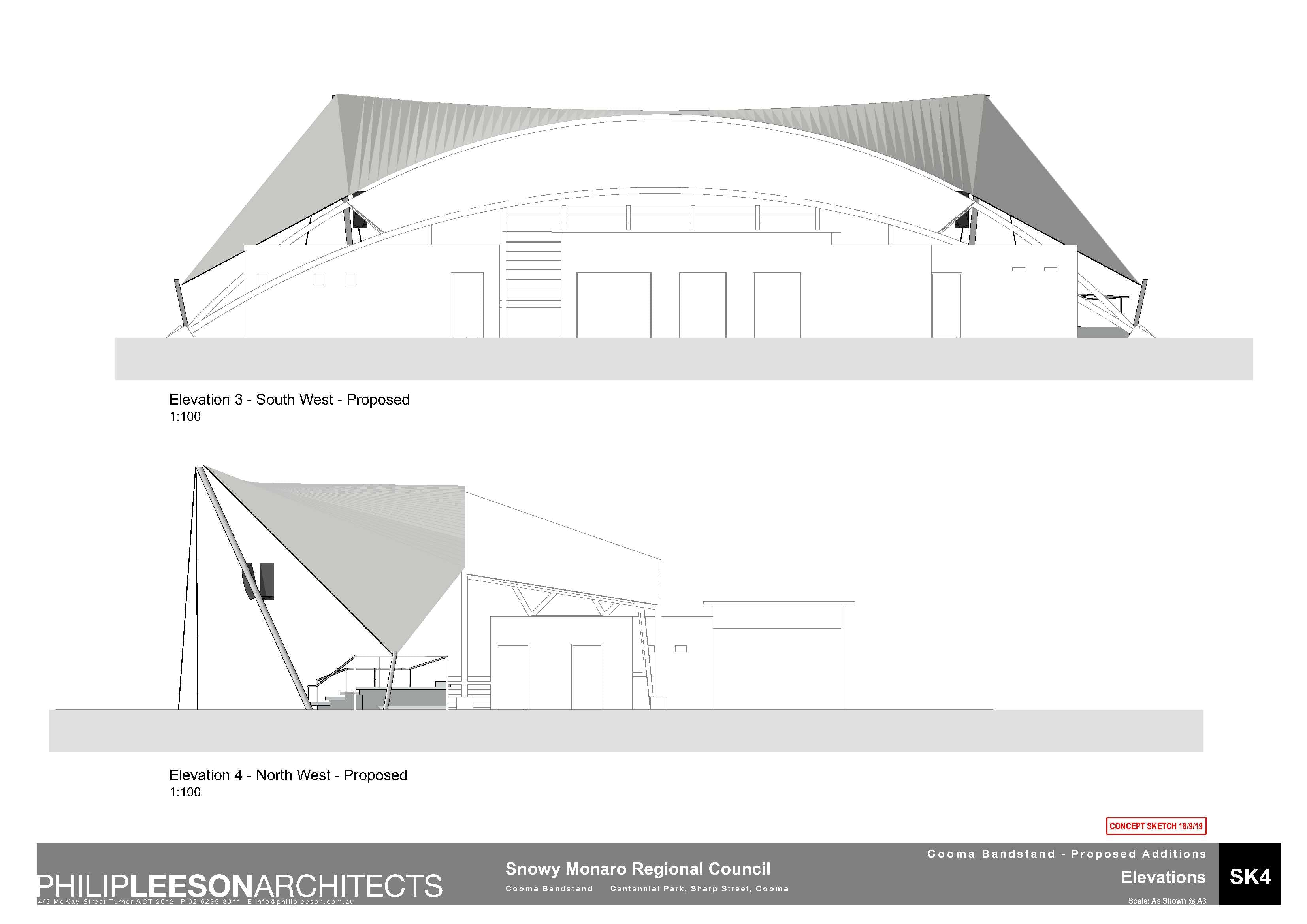 Cooma Bandstand - Proposed Additions_190918 Concept Sketch_4