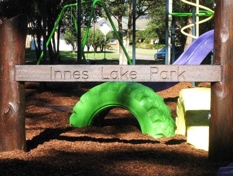 The upgraded Innes Lake playground