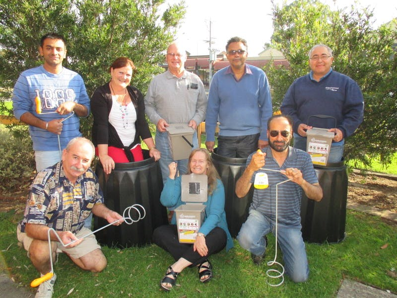 Happy composters at the Saturday session in Cranbourne