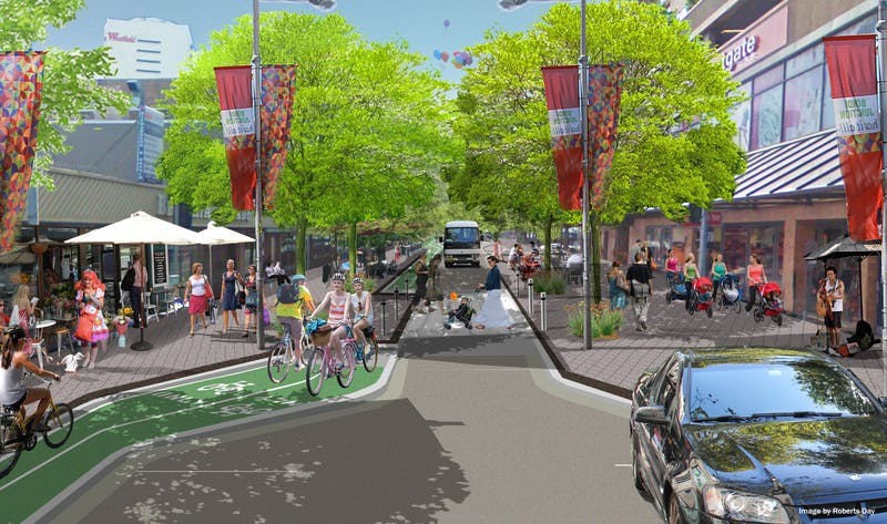 An artist impression of what Spring Street could look like.