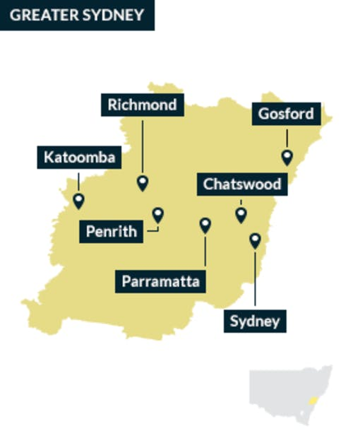 The Greater Sydney region
