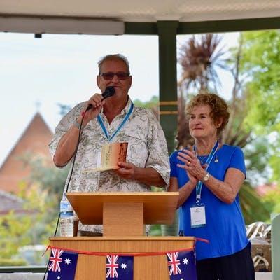 Australia Day 2018 Ambassadors Bruce Venables and Judy Nunn
