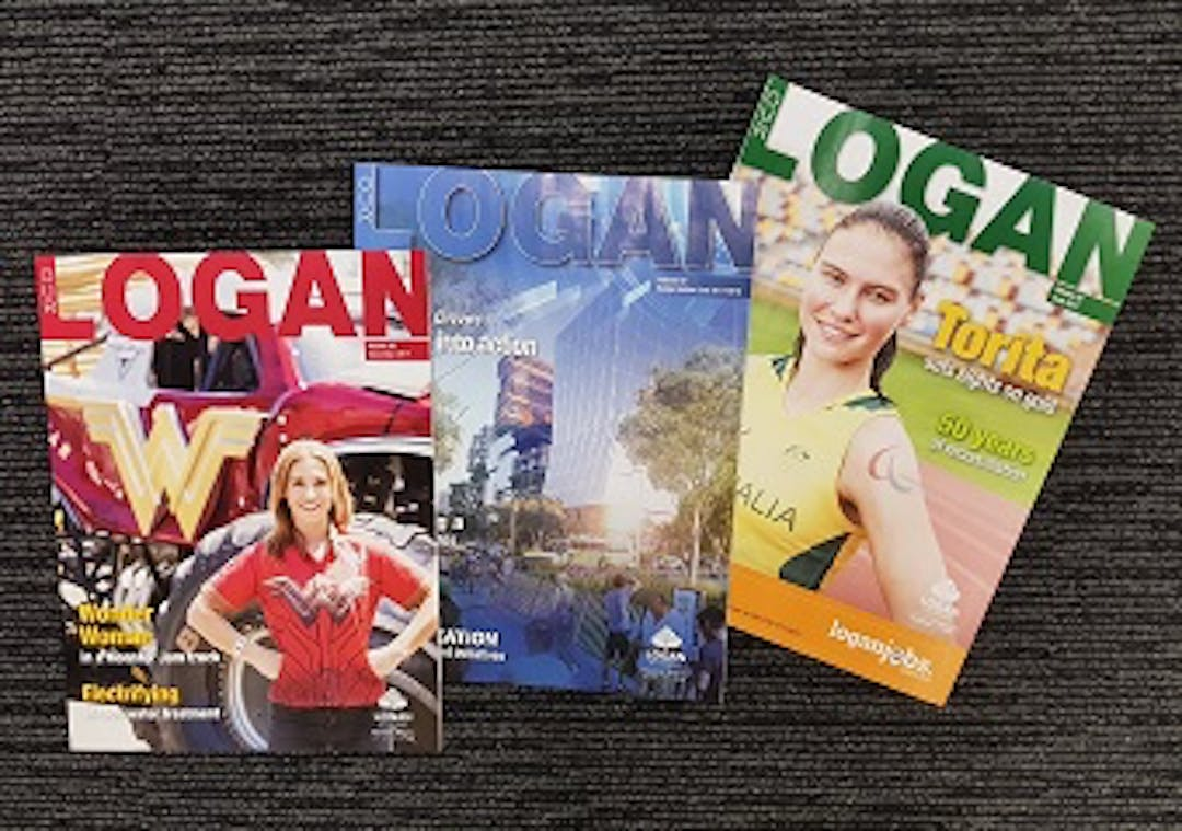 A range of three Our Logan magazines