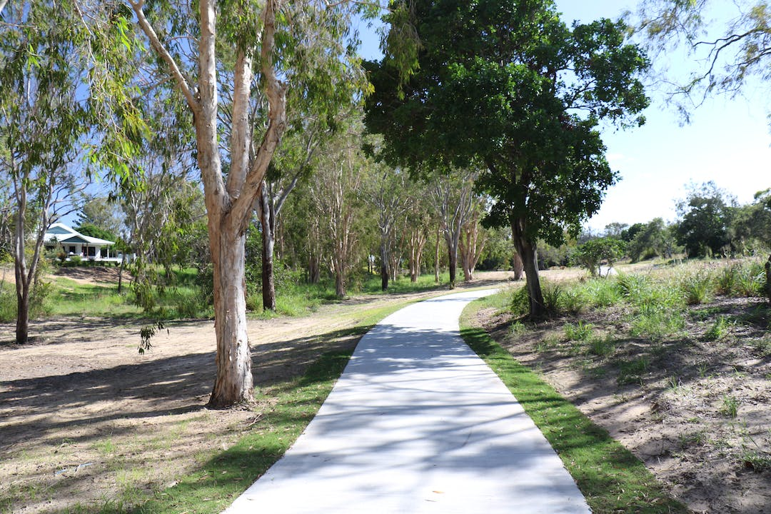 The shared path is in Seaview Park which is about 2.5km long.