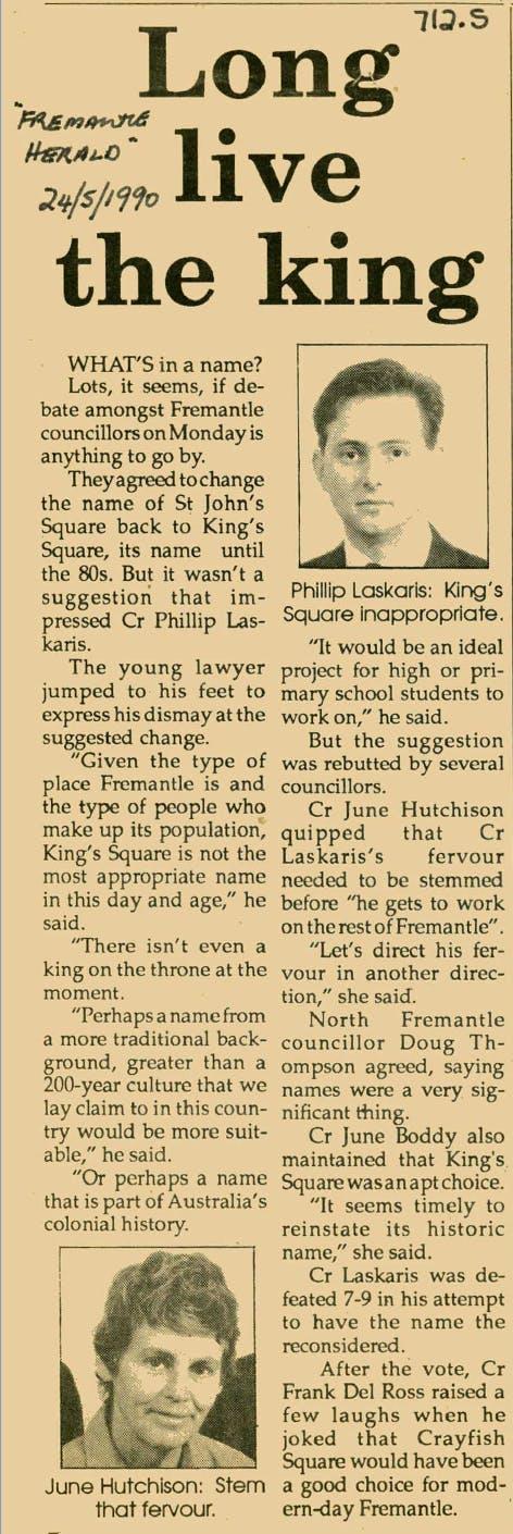 Fremantle Herald 1990