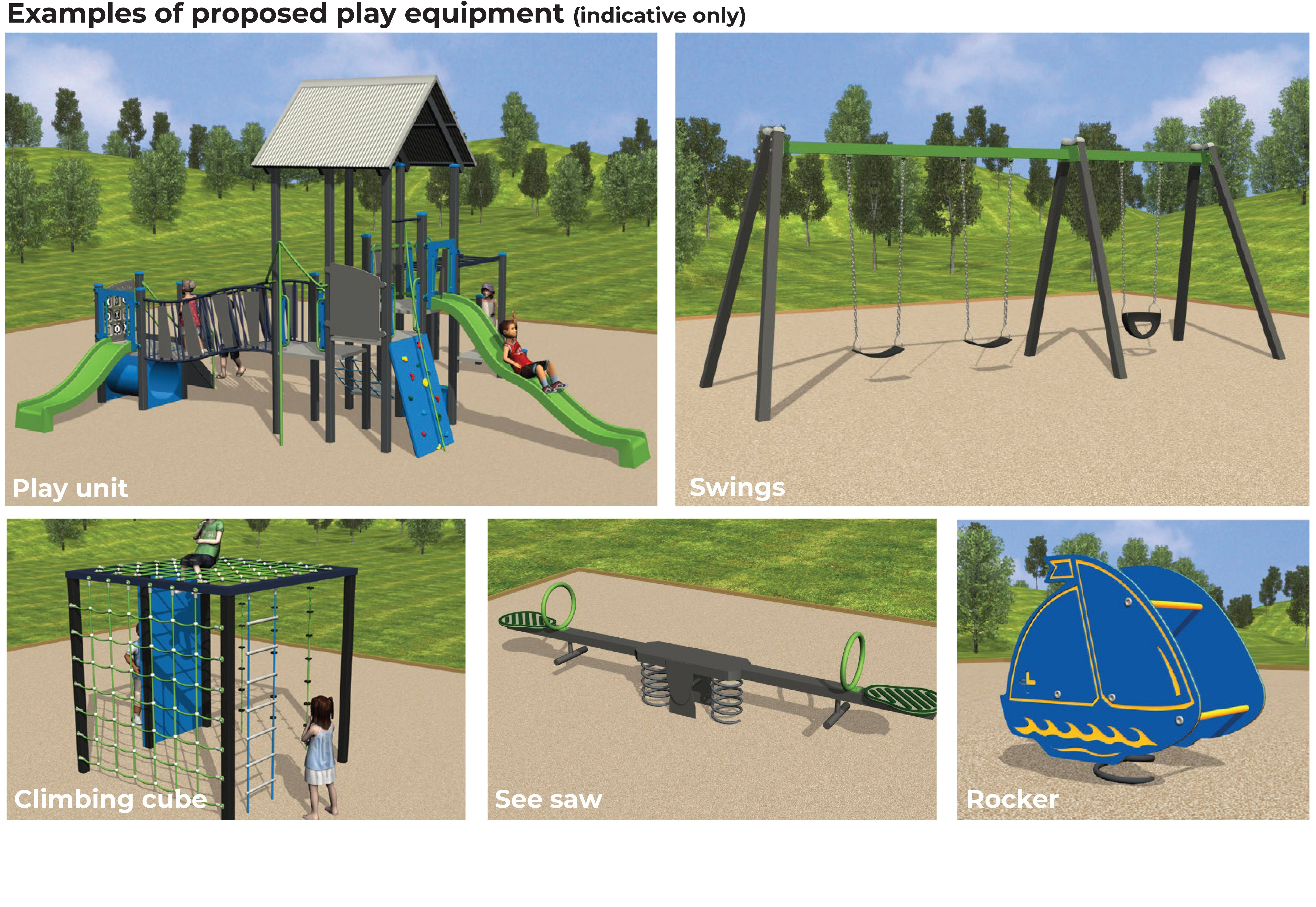 Hamilton Hume Reserve - Proposed Play Equipment