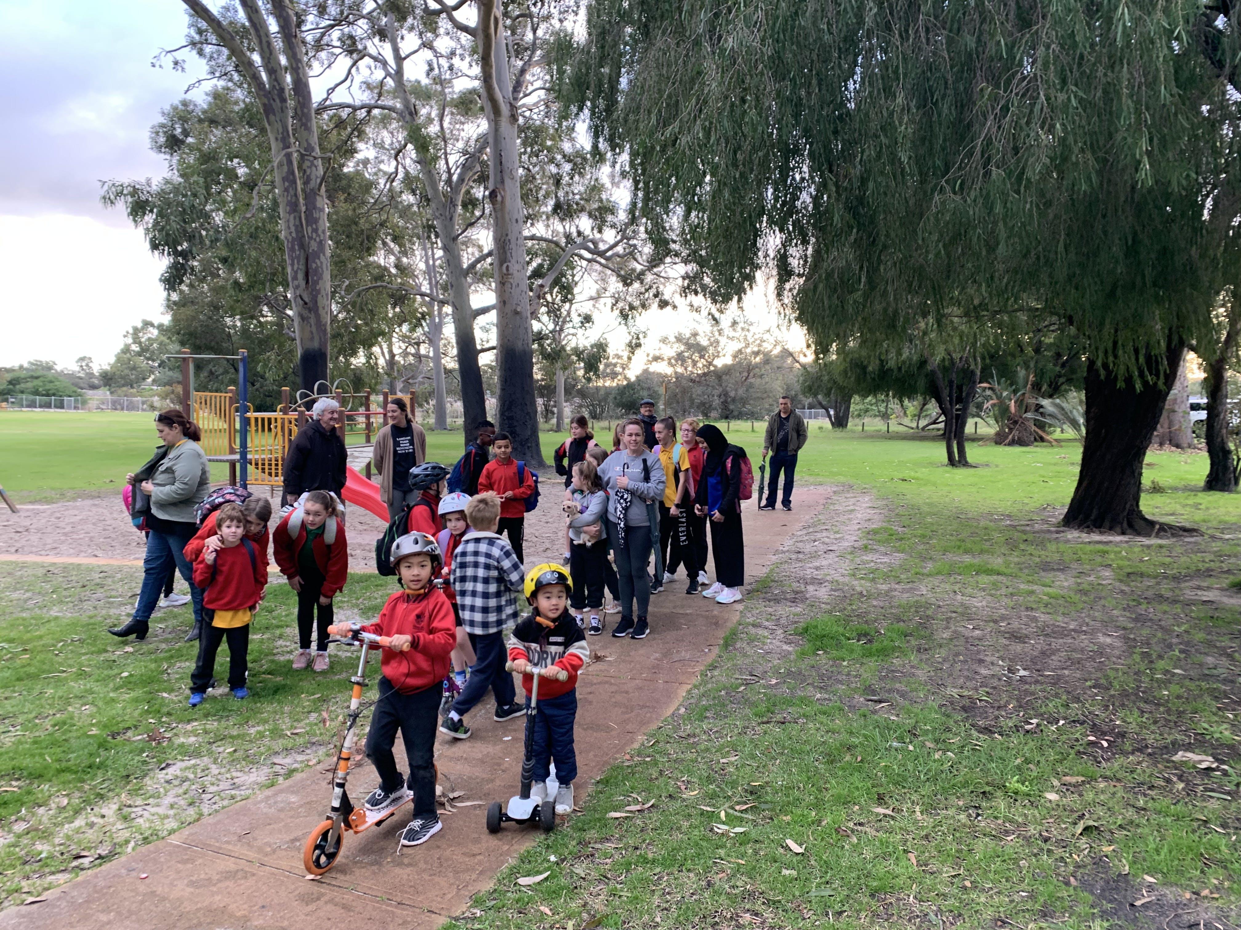 Gibbs Street Walk/Ride/Scoot to school day