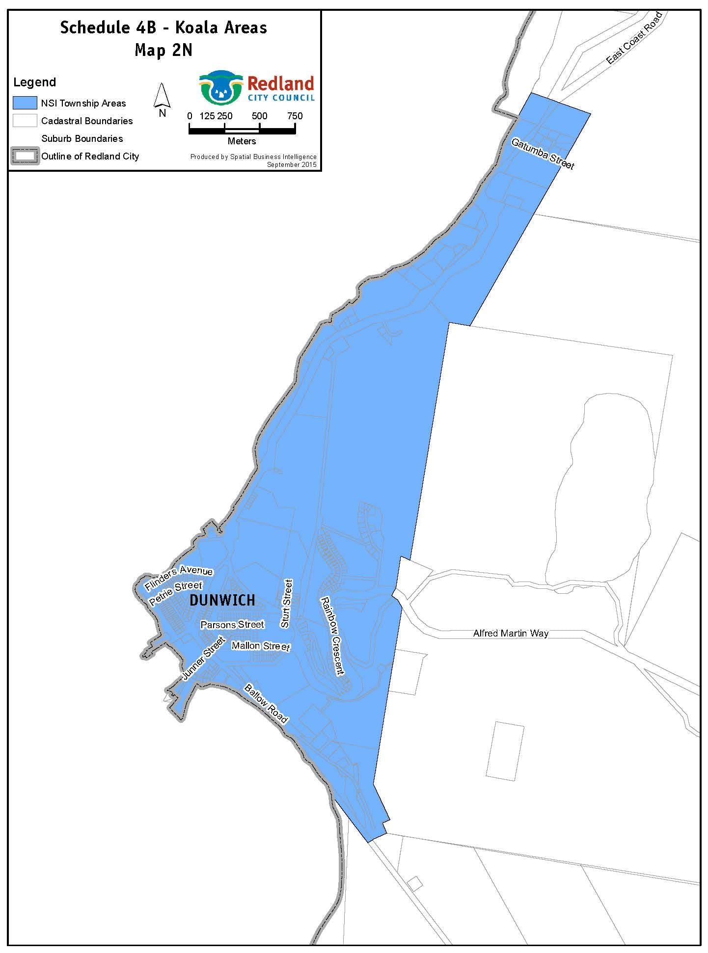 Koala Areas - Map NSI 2N