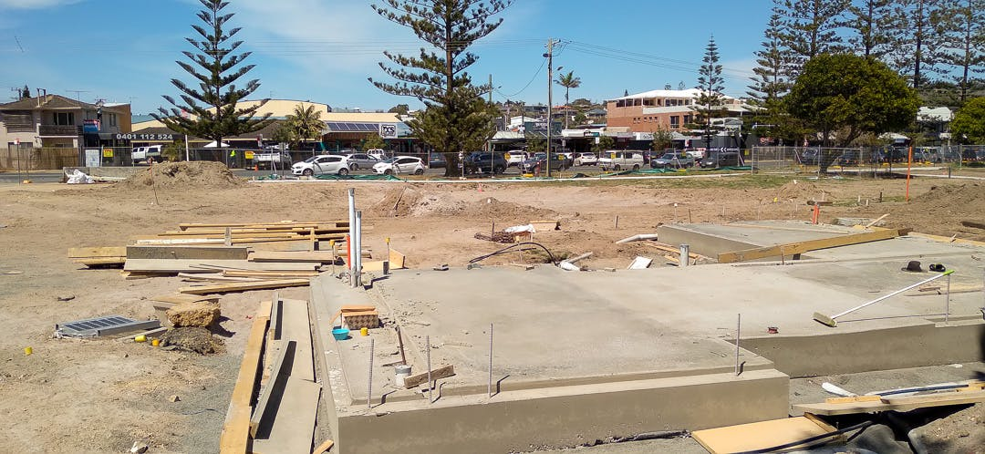 The slab has been poured for the new amenities building.