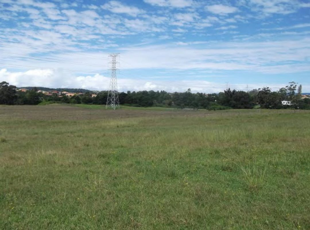View of site looking south east