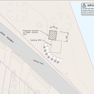 Nurses Retreat site plan with planting