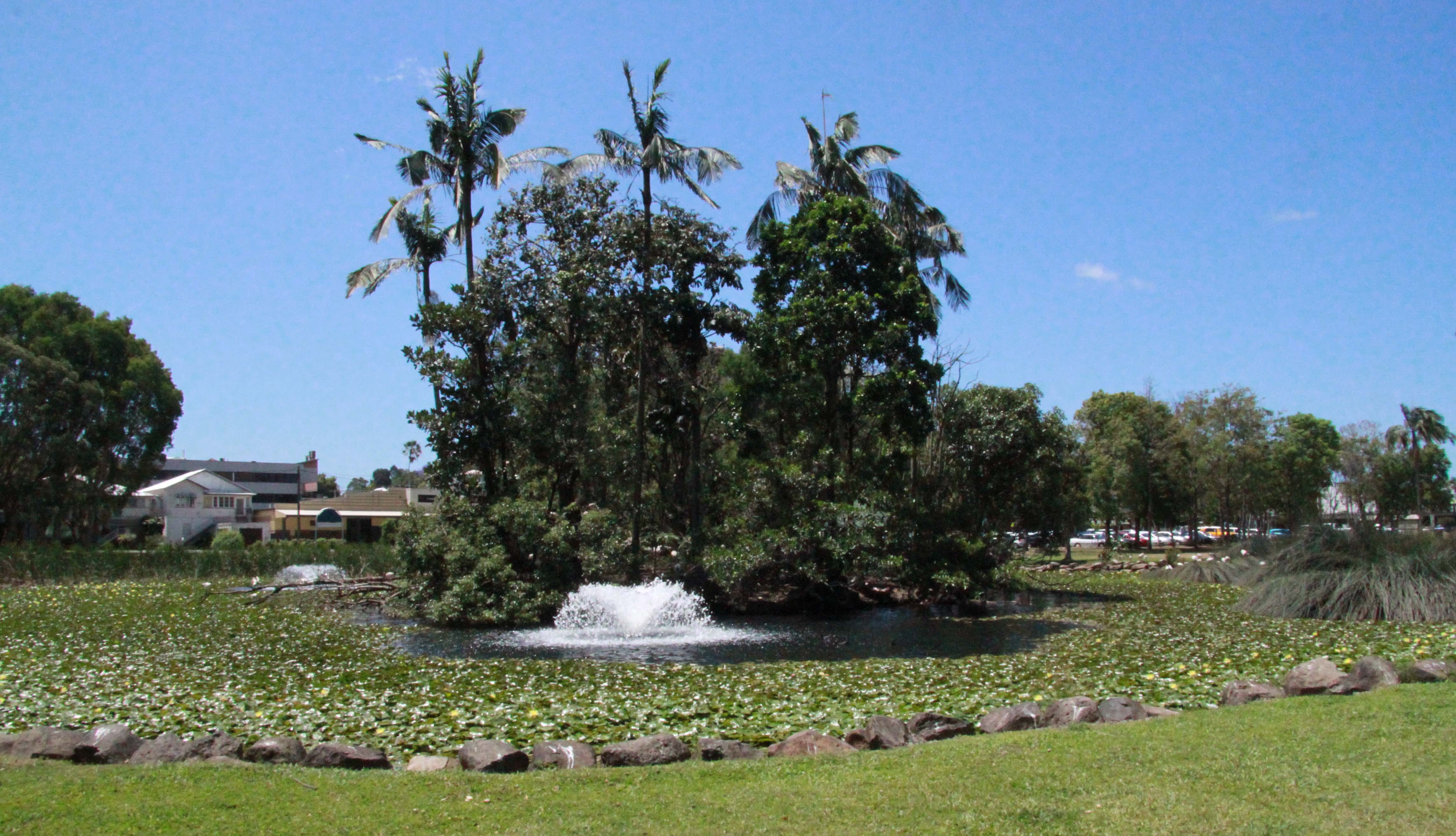 An educational wetland and botanical area would be created at the existing pond.