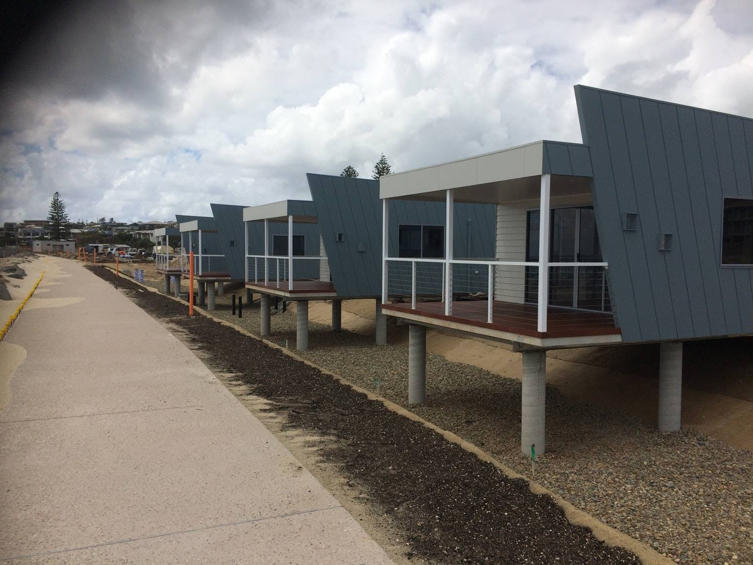 The First Cabins Installed At The Modernised Kingscliff Beach Holiday Park