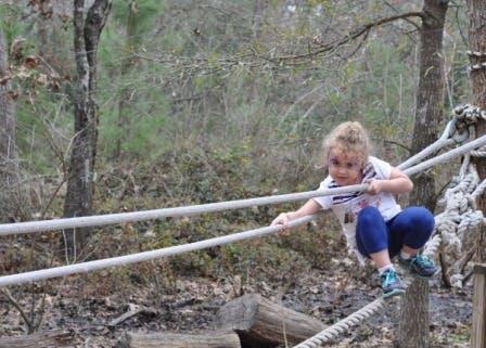 Houston Arboretum Playground Rope Bridge