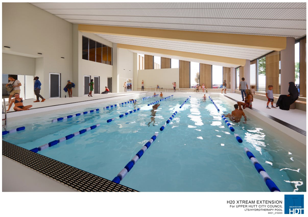 Artists impression of hydrotherapy pool
