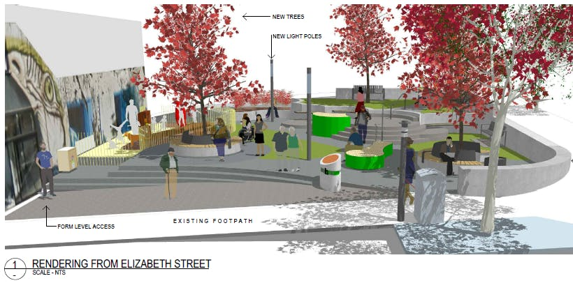 Swan Street Park, Revised Concept Design street view