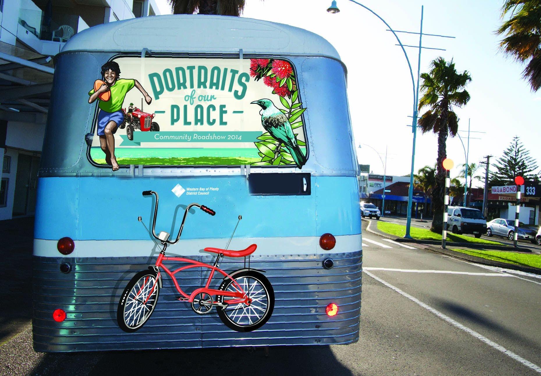 Community Engagement Bus - Rear View