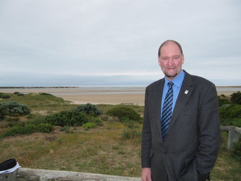 Alexandrina Council Mayor Kym McHugh at Murray Mouth