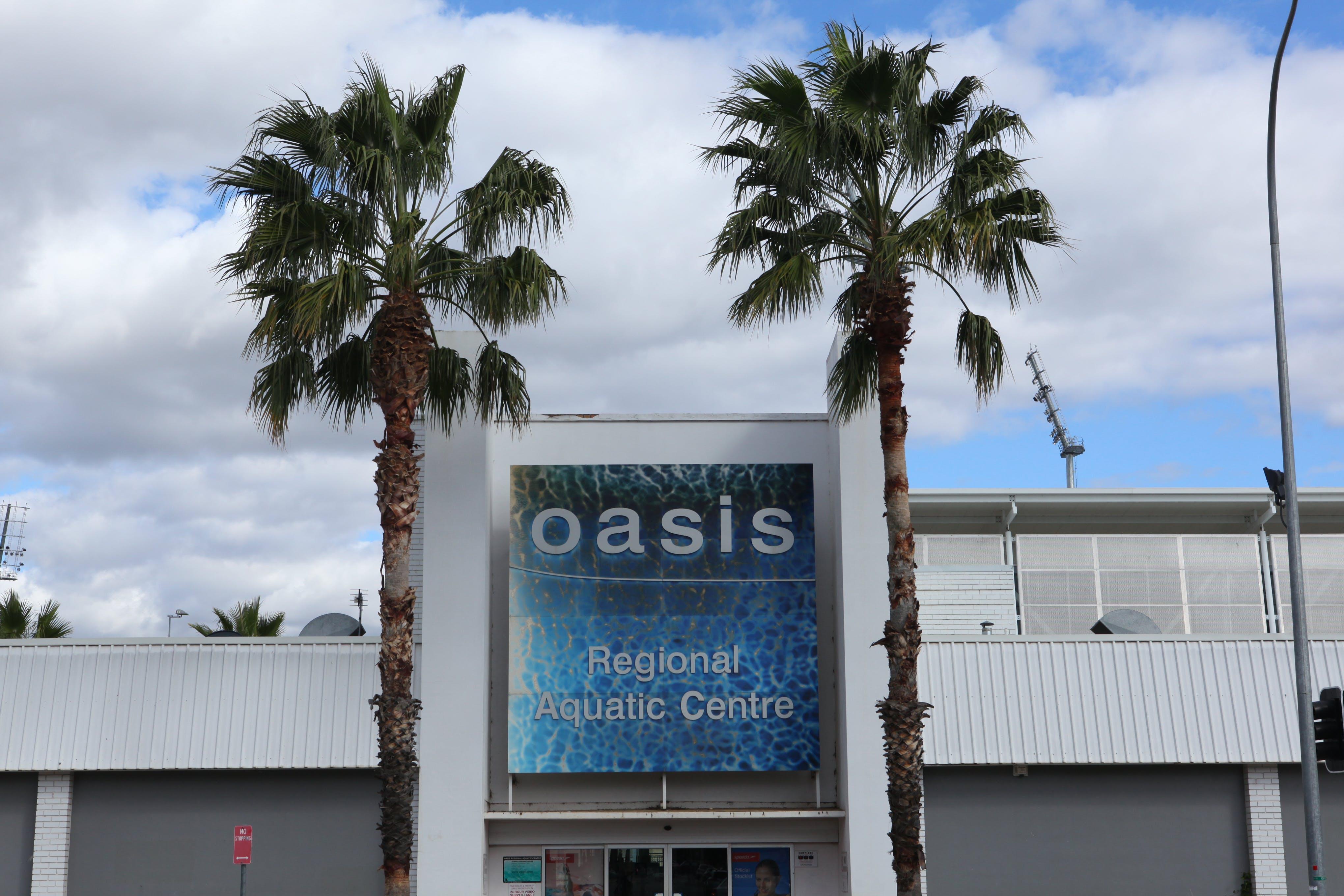 Oasis Aquatic Centre Sign