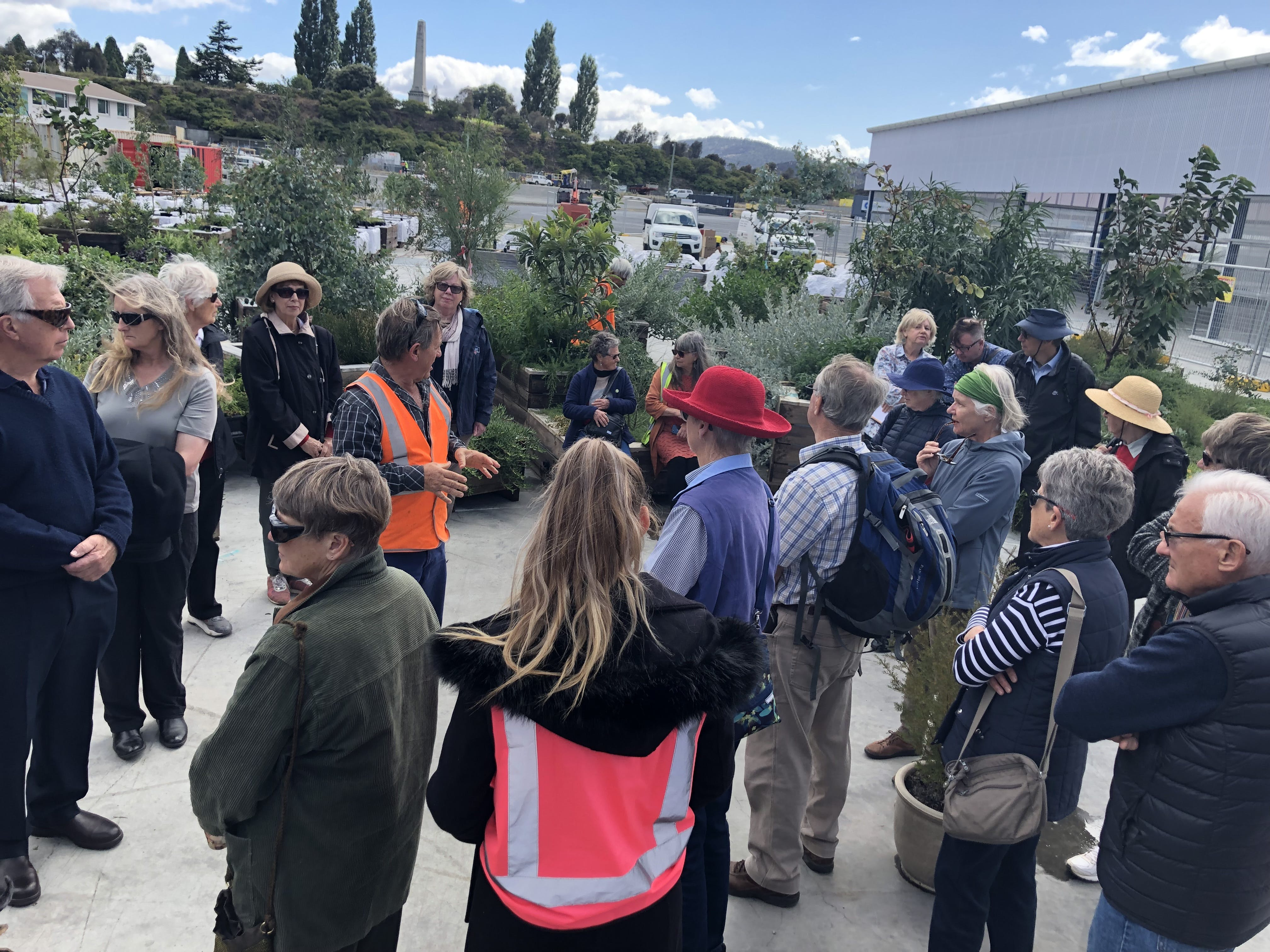 The Native Plant Society visiting the precinct - Feb 2019