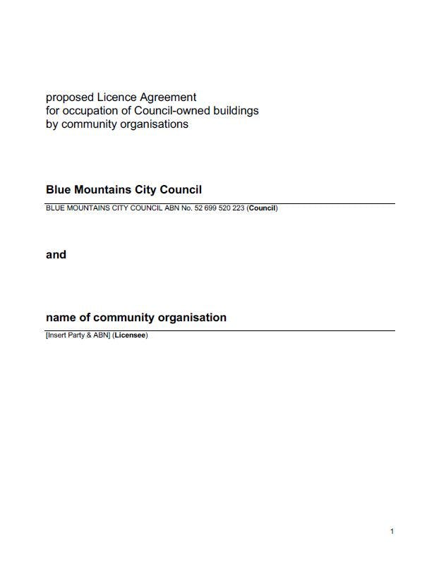 draft licence agreement