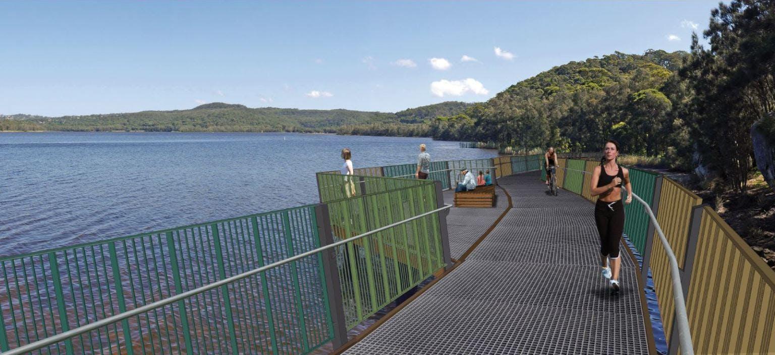 Narrabeen lagoon aquatic boardwalk   webtile