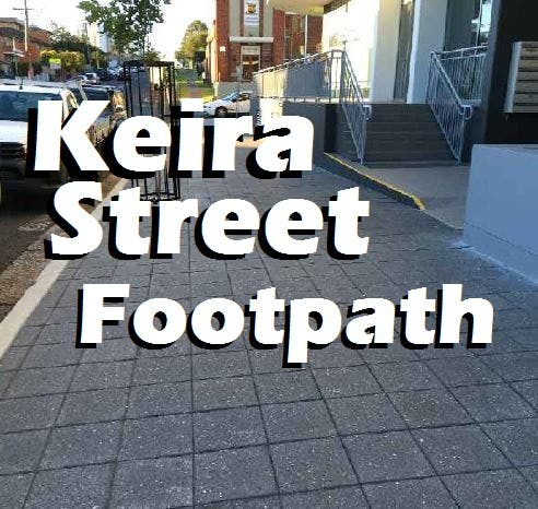 Keira street footpath