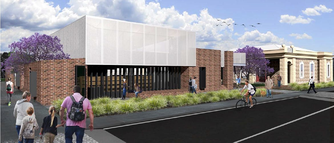 Naracoorte Public Library / Community Resource Centre schematic design