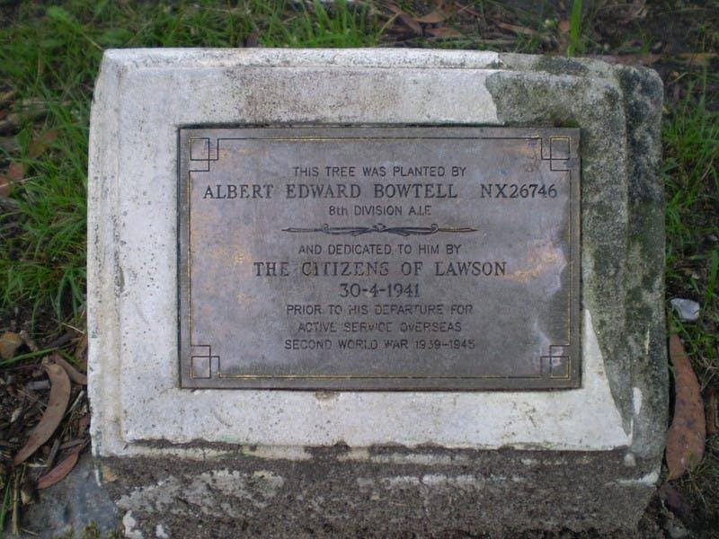 A Bowtell Memorial Plaque, Wilson Park, Lawson