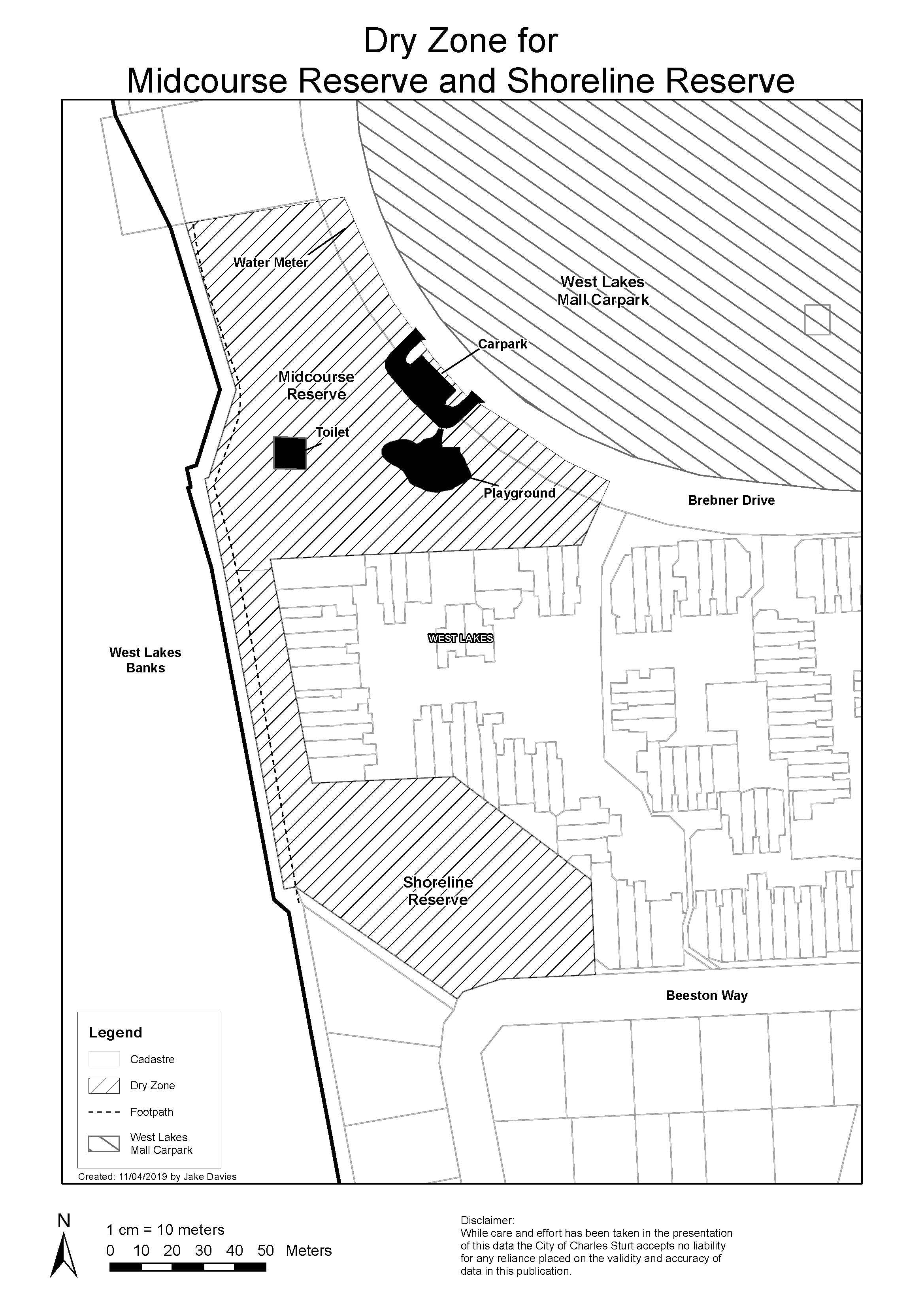 Midcourse Reserve and Shoreline Reserve Map