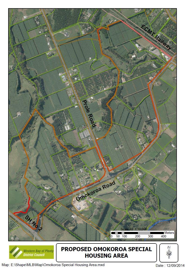 Omokoroa Sha Aerial Map